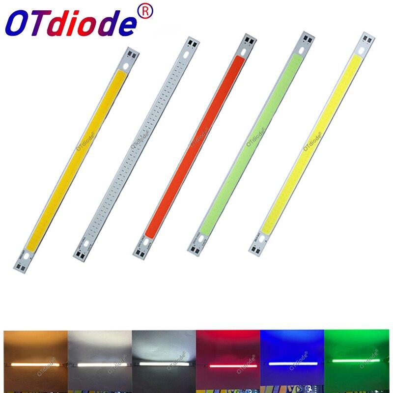 LED COB 200x10mm 12v cob led Strip light bulb source 10W Warm Nature White Blue Red Green Yellow FLIP Chip for Car light DIY