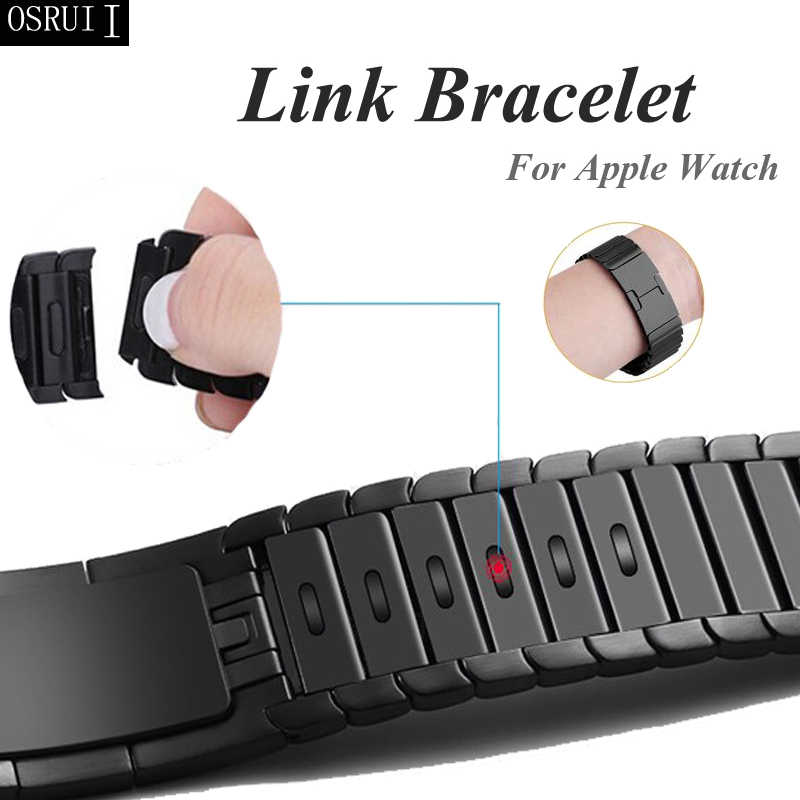 Strap For Apple Watch 4 Correa Iwatch Band 5 44mm 40mm 42mm 38mm 3 316L Stainless Steel Link Bracelet Pulseira Watch Accessories