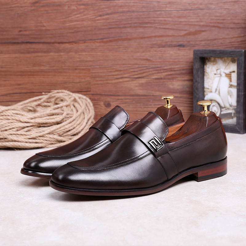 Image 5 - Desai Male Shoes Genuine Leather 2020 New Metal Decoration  Leather Handmade Soft Comforable Leather Men Loafers Causal ShoesMens  Casual Shoes