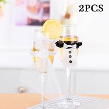Veil Gadgets-Accessories Wine-Glasses 2PCS Decor-Supplies Cup-Decor Toasting Groom Tux