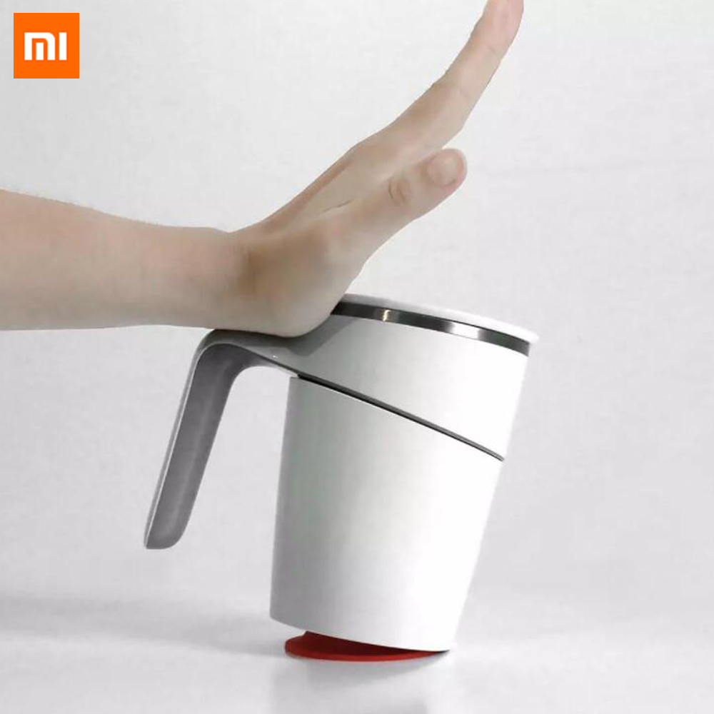 Xiaomi Splash Proof Magic Fiu Non-slip Sucker Pouring Cup 470ml Stainless Innovation Not Double Insulation For Smart Home Use