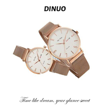 DINUO men and women pair of watches double calendar quartz movement fashionable casual casual casual simple trend