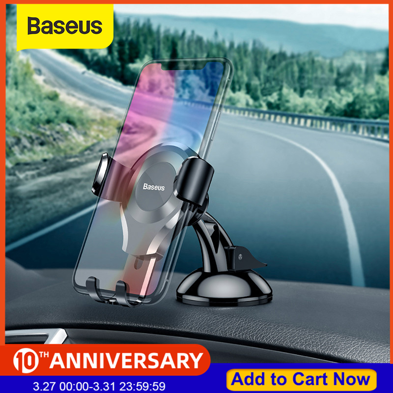 Baseus Gravity Car Phone Holder For IPhone X 8 Samsung S10 Suction Cup Car Mount Holder Windshield Bracket For Phone In Car