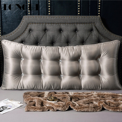 TONGDI Home Soft Large Lace Big Pillow Back Cushion Long Suede Elastic Backrest Multifunction Luxury Decor For Bedside Bed Sofa