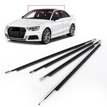 4Pcs/Set Car Weatherstrip Window Moulding Trim Auto Seal Belt Molding For Audi A3 2014 2015 2016 2007 2018 2019 2020 Chrome