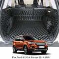 Lsrtw2017 для Ford Kuga ESCAPE кожаные багажнике автомобиля коврик для багажника 2012 2013 2014 2015 2016 2017 2018 2019 ковер аксессуары с покрытием