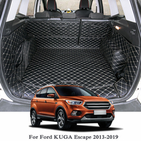 Lsrtw2017 フォード久我エスケープ革車のトランクマットカーライナー 2012 2013 2014 2015 2016 2017 2018 2019 敷物カーペットアクセサリー -