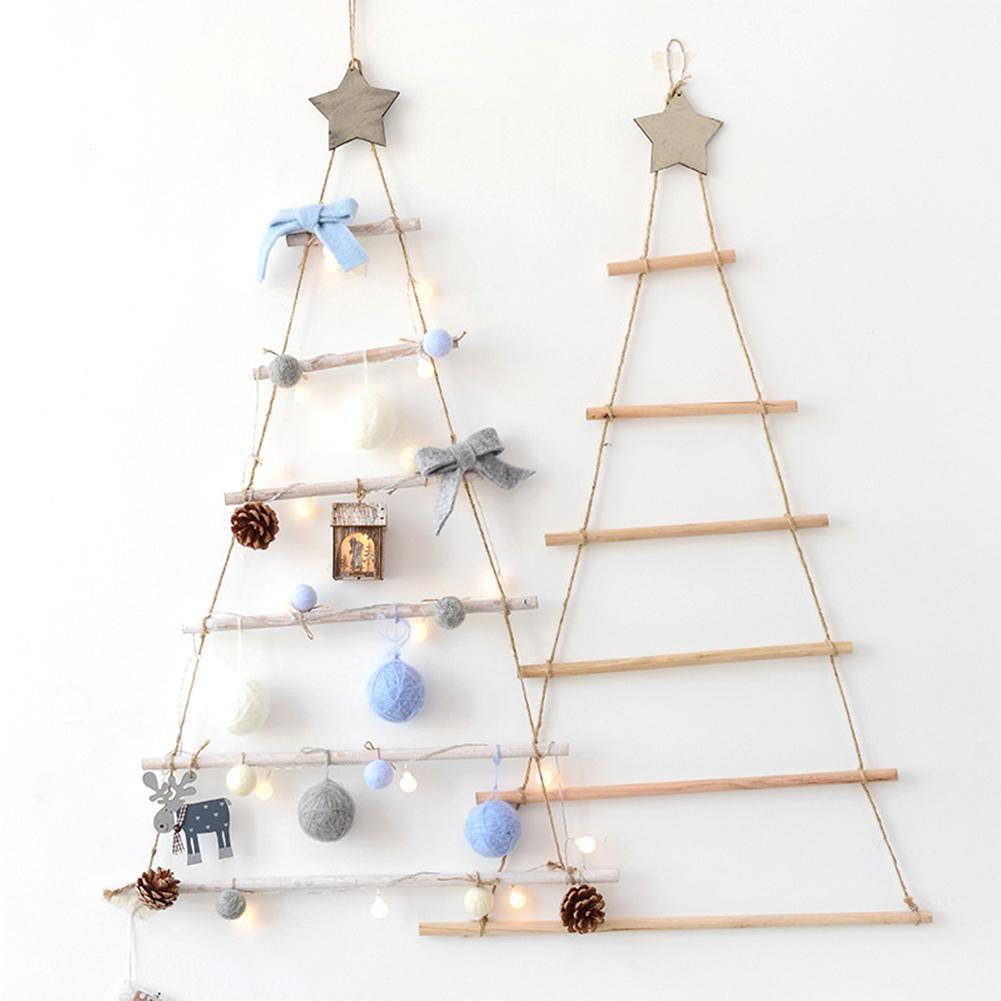 Ornamento para árbol Artificial de estilo nórdico para colgar en la pared, decoración de Navidad para cuarto de niños, Año Nuevo Conjunto de juguete Retro con luz eléctrica, adornos para tren con pista eléctrica de vía férrea, Conjunto Clásico de juguetes para niños, regalos de Navidad y Año Nuevo