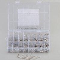 880Pcs/set DIN912 M2 M3 M4 M5 304 Stainless Steel Hexagon Socket Head Cap Screws Furniture Hex Bolts Assortment Kit