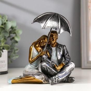 "Souvenir polystone romantic ""Lovers under an umbrella"" 17.5х14.5х10.5 cm 2600619 Home decor"