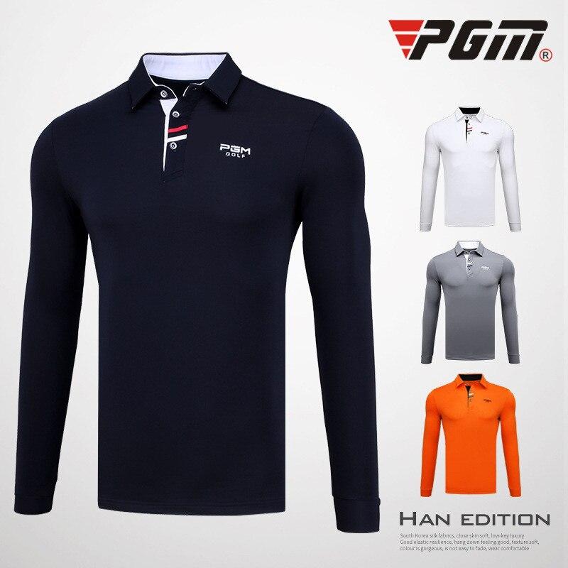 PGM Men's Outdoor Sport Clothes Golf Long Sleeve Ice T-shirts Summer Soft Viscose Shirt Sunscreen UV Underwear Golf Apparel