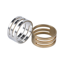 Anéis de salto de aço inoxidável aberto & fechar ferramentas cor de aço cobre dedo círculo anel para diy jóias fazendo ferramentas