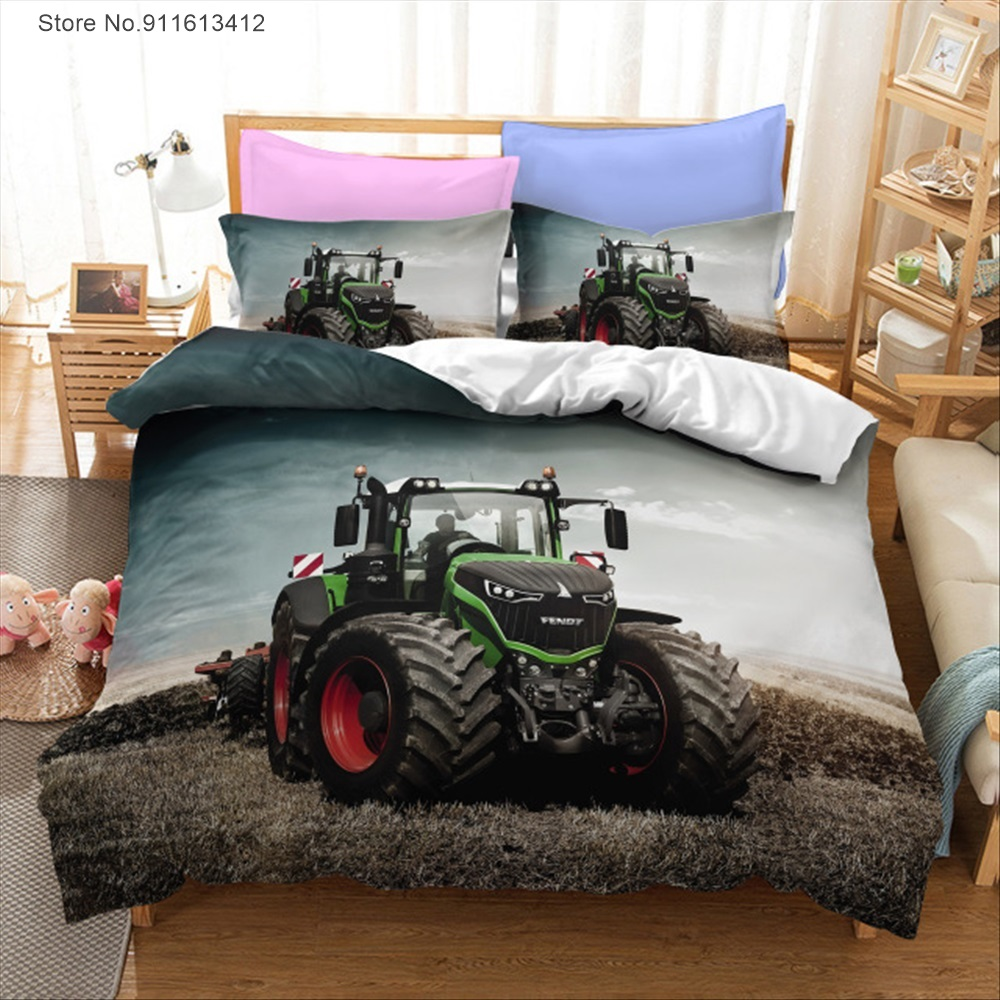 Tractor Car 3D Printed Bedding Set Duvet Cover Pillowcase Comforter Cover Adult Kids Bedclothes Bed Linens Gift