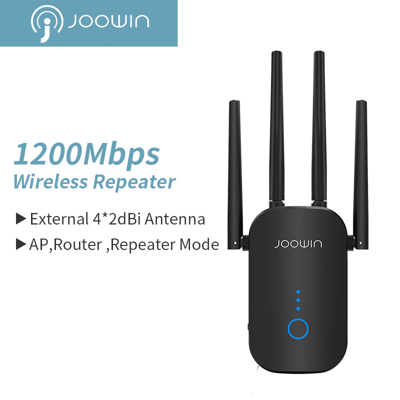 1200Mbps Dual Band 5Ghz Wireless Wifi Repeater Powerful Wifi Router Wifi Extender 4*3dbi Antenna Long Range Wlan WiFi amplifier image
