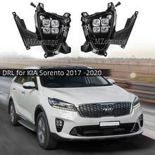 Luces LED antiniebla DRL para coche, montaje de faros delanteros para KIA Sorento prime 2018 2019 2020
