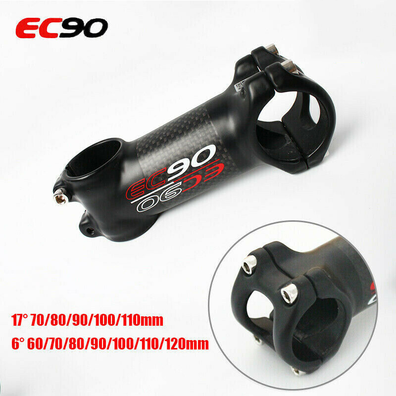 Carbon Aluminum Bike Stems ±6°//17° MTB Road Bicycle Handlebar Stem 31.8*60-120mm