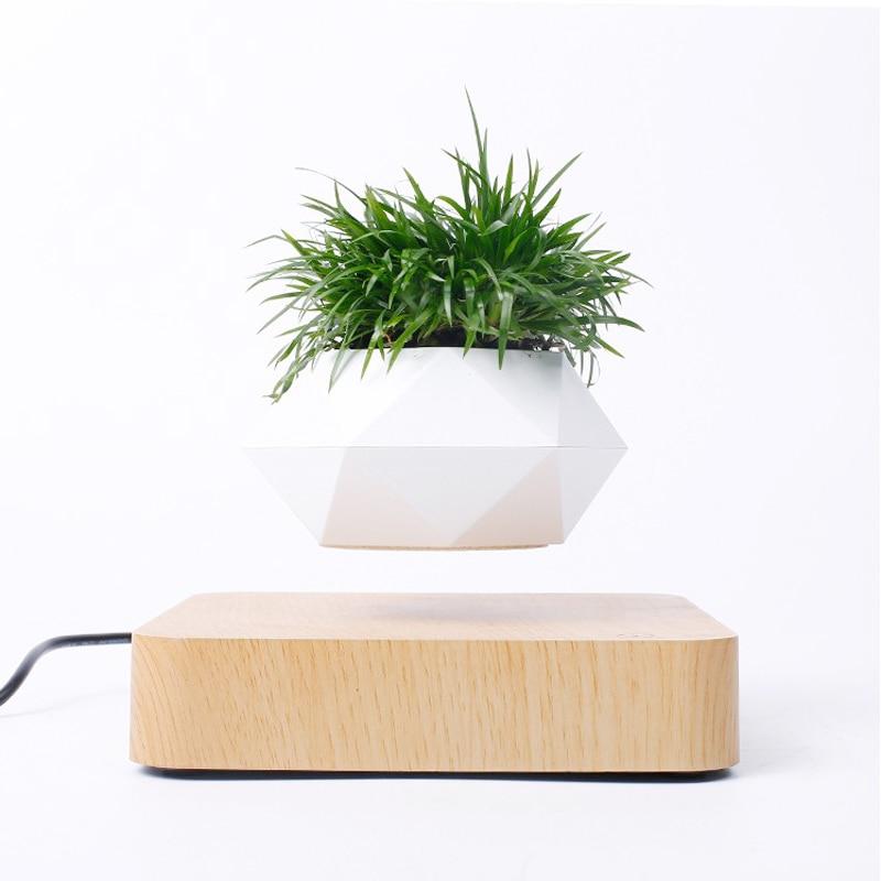 NEW Magnetic Suspension Flower Pot Levitating Air Bonsai Pot Plant Pot Succulent Pot Patio Decoration Desktop Flower/Green Plant