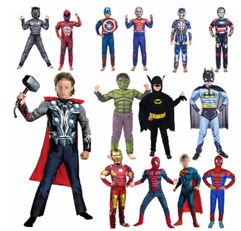 Child Avengers Captain America Batman Iron Man Muscle Cosplay Costume mask Kids Party Disfraces Halloween Superhero Fancy Dress movie captain america 3 civil war captain americamasque mask cosplay prop steven rogers superhero latex helmet halloween party
