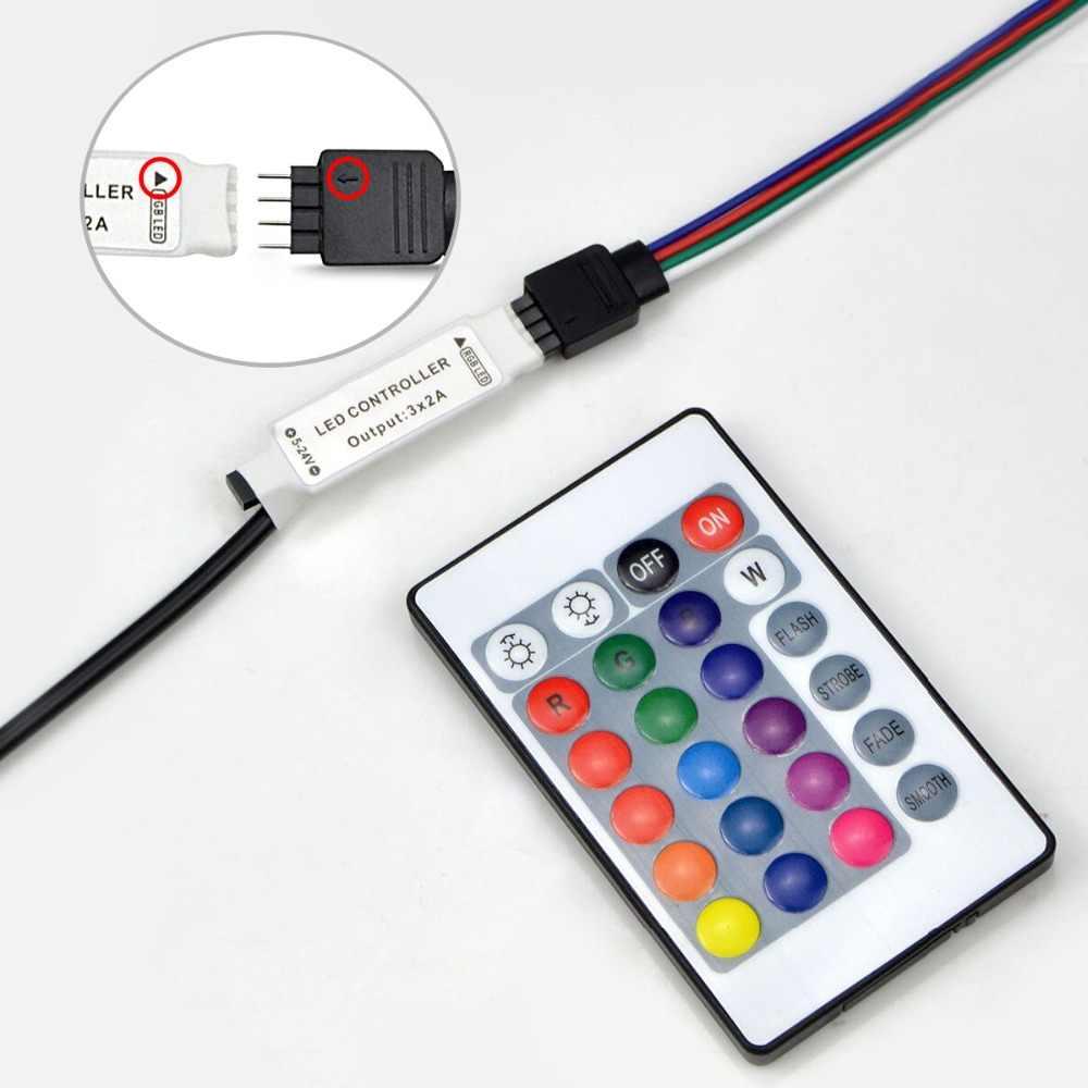 Светодиодный ленты 5 вольт rgb-контроллер USB ИК RF пульт дистанционного управления 3 ключа 17 ключ с 24-мя клавишами удаленный беспроводной контроллер 5В питание от USB светодиодный полосы света
