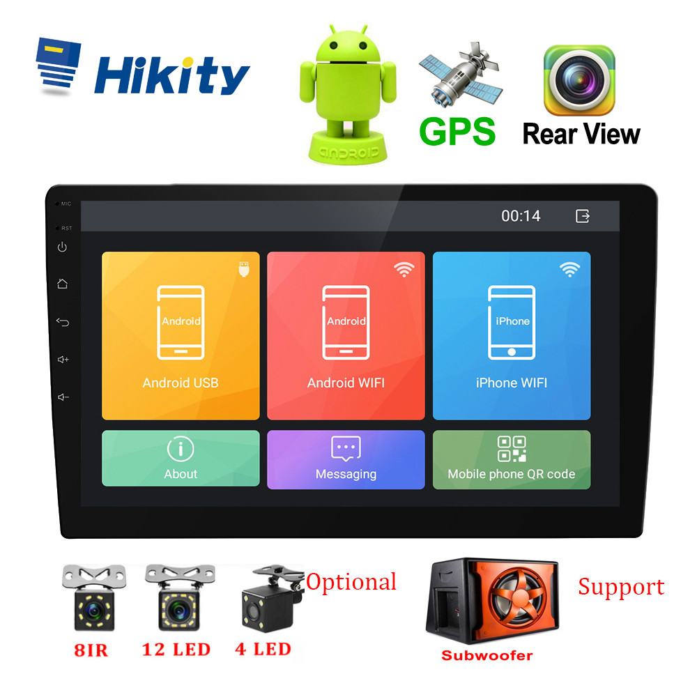 Hikity Podofo Android 2 Din Radio voiture 10.1