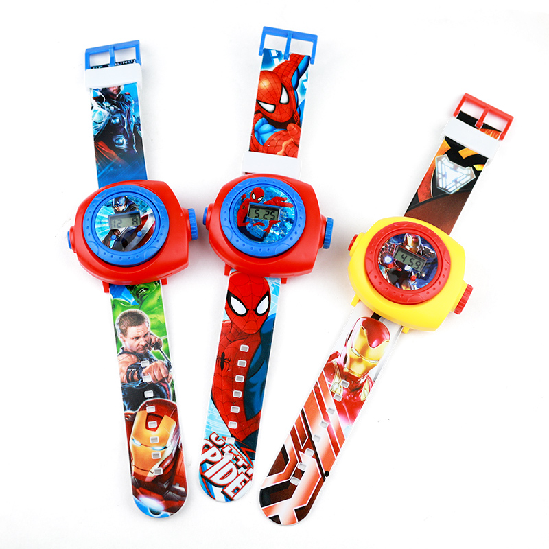 JOYROX Projection Children Watches Spiderman Pirncess Cartoon Pattern Boys Watch For Girls LED Display Clock Relogio Infantil