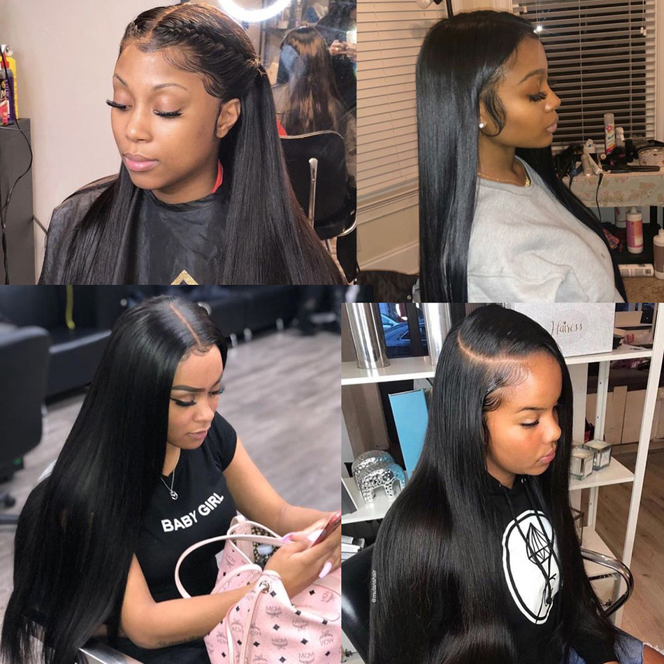 Image 5 - 360 Lace Frontal Wig Pre Plucked With Baby Hair Hot Star Brazilian Straight Human Hair Wigs 150% Remy Hair Glueless Lace Wig-in Human Hair Lace Wigs from Hair Extensions & Wigs