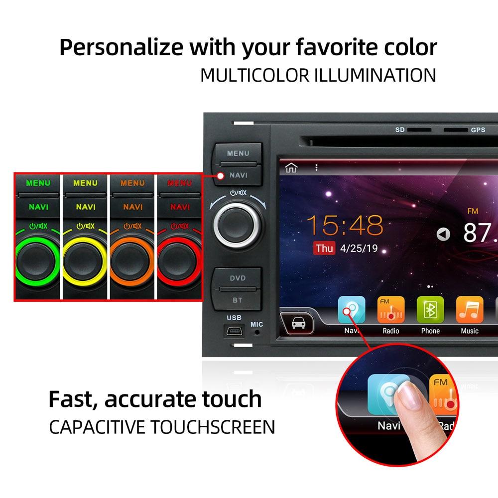 Image 2 - Bosion 2 din Android coche GPS para Ford Mondeo Ford S max Focus C MAX Galaxy Fiesta de tránsito fusión conectar kuga reproductor de DVD 4GB 64GBReproductor multimedia para coche   -