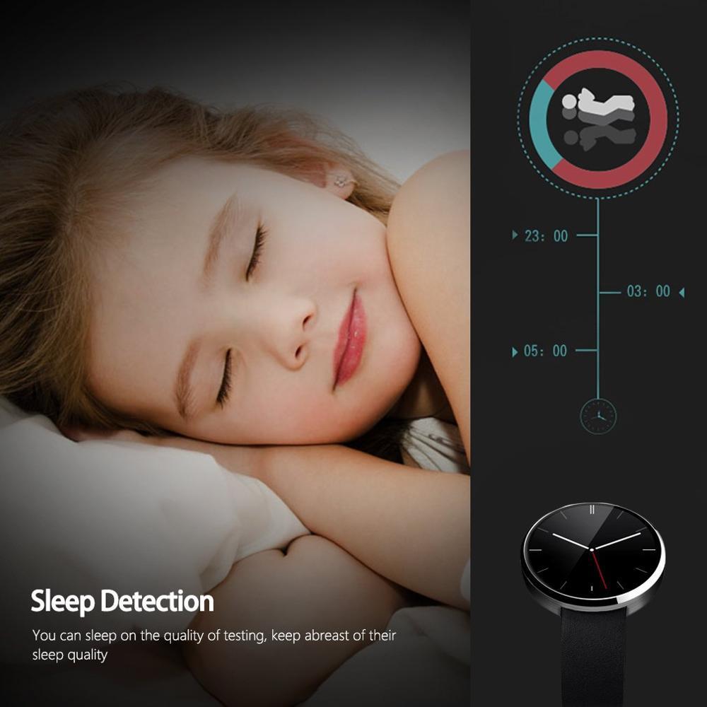 Dm360 preto à prova dwaterproof água relógio de pulso inteligente pedômetro cronômetro função anti perdida alarme inteligente lembrete sedentário - 4