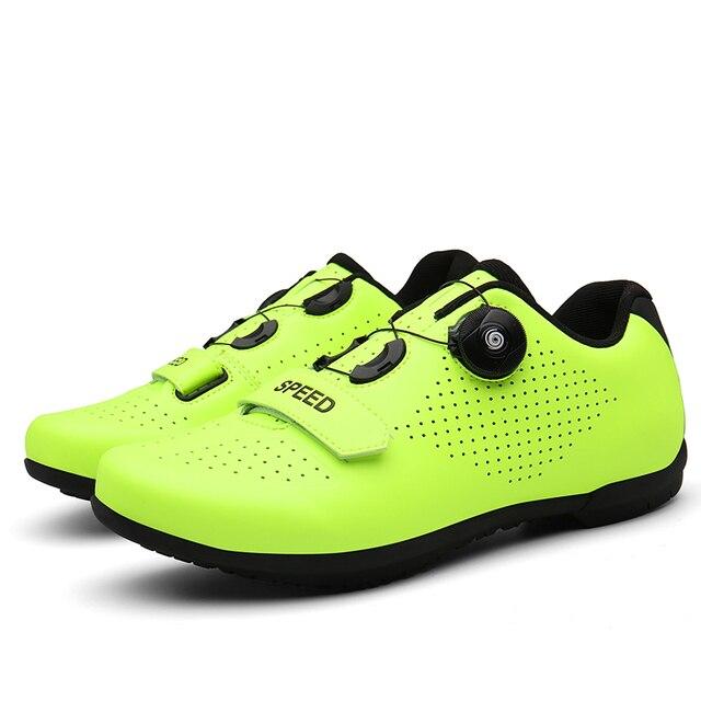 Barato sapatos de ciclismo spd cleat men mtb sapatos ao ar livre respirável auto-bloqueio sapatos de bicicleta de montanha mulher tênis de corrida 2