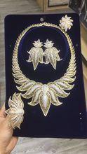 Dazz Luxury Flowers Nigeria Charm Jewelry Set Women Wedding Cubic Zircon Dubai Gold Bridal Big Necklace Earring Ring Bangle 2019 new fashion big flower crystal cz zircon golden necklace earring bracelet ring wedding bridal banquet dressing jewelry set