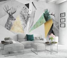 Custom 3D Stereoscopic Wallpaper Nordic minimalistic abstract geometric squares background wall Home Improvement(China)