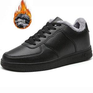 Image 3 - Marka skórzane męskie obuwie jesienne modne trampki obuwie gumowe ciepłe męskie płaskie buty zimowe męskie buty sprzedaż Man Designer