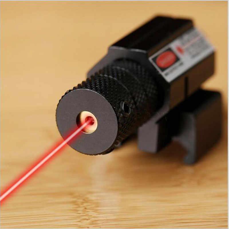 Puntero láser táctico de alta potencia Red Dot Scope Weaver Picatinny juego de montaje para pistola Rifle pistola tiro Airsoft Rifle caza