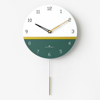 Luxury Design Nordic Wall Clock Pendulum Art Vogue Wooden Wall Clocks Creative Stylish Bedroom Orologio Cucina Home Decor AA50WC