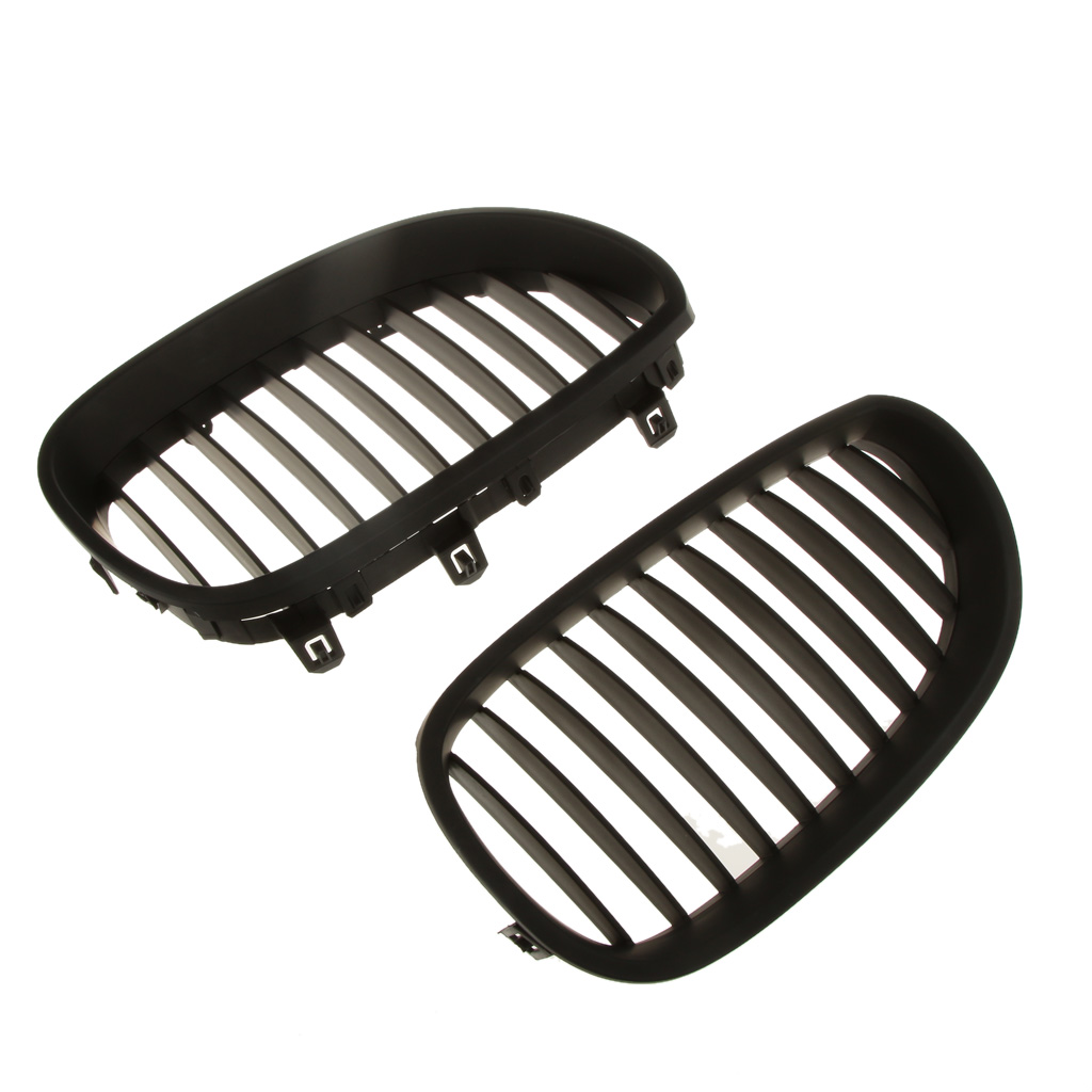 Car Front Mesh Grilles Replace for <font><b>BMW</b></font> <font><b>E60</b></font> E61 <font><b>5</b></font> <font><b>Series</b></font> M5 2003-2009 Pack of 2 image