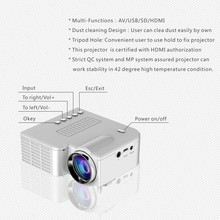 Portable UC28 PRO HDMI Mini LED Projector Home Cinema Theater AV VGA USB OC-shipping