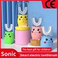 Умная Ультразвуковая электрическая зубная щетка со сменными насадками, моющаяся ультразвуковая отбеливающая зубная щетка, перезаряжаемая...
