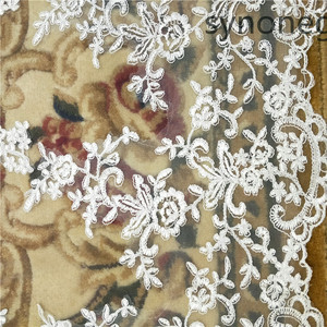 Image 5 - New pattern Cathedral Length Bridal Veil Lace Veil Wide Veil 1 Layer Wedding Veil Metal Comb Real Photo
