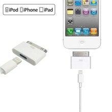 Convertisseur adaptateur mâle 8pin femelle à 30pin pour iPhone4 4S iPad2 3 iPad Touch3 4 haute qualité blanc et noir