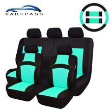 Car-pass Car Seat Covers With Steering Wheel ,Auto Shoulder Pads Full Set Interior Accessories