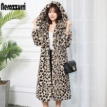 fourrure moelleux manteau léopard