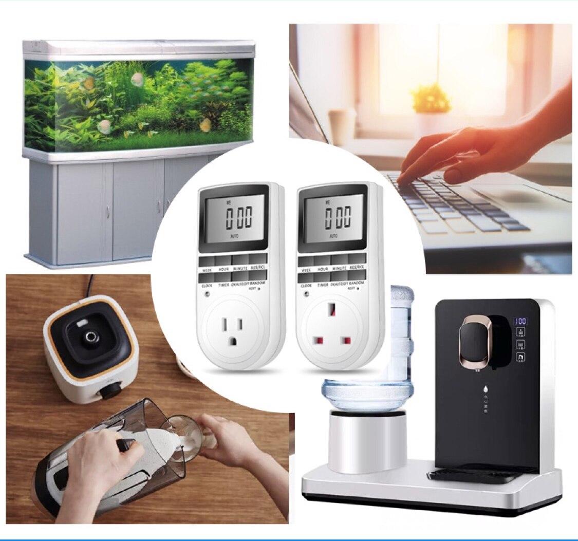 Таймер цифровой электронный цифровой таймер ЕС Великобритания Австралия США FR Стиль 220 в 230 в 240 в 120 В 10A 13A 15A16A 50 Гц 60 Гц