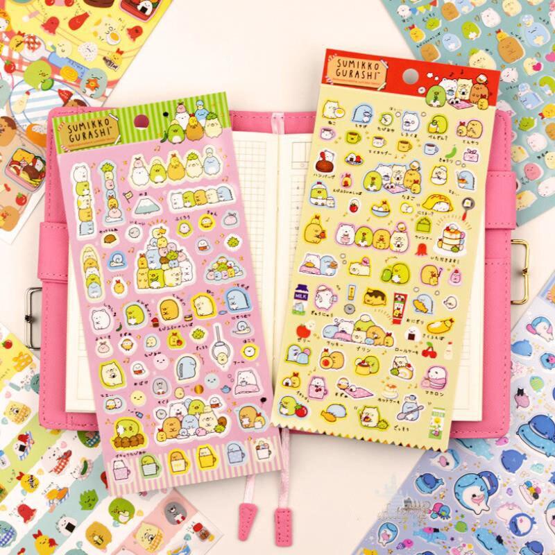 1sheet New Cartoon Corner Creature San-x Sumikko Stickers Scrapbooking Stick Label Diary Album Stickers Classic Toys Gift
