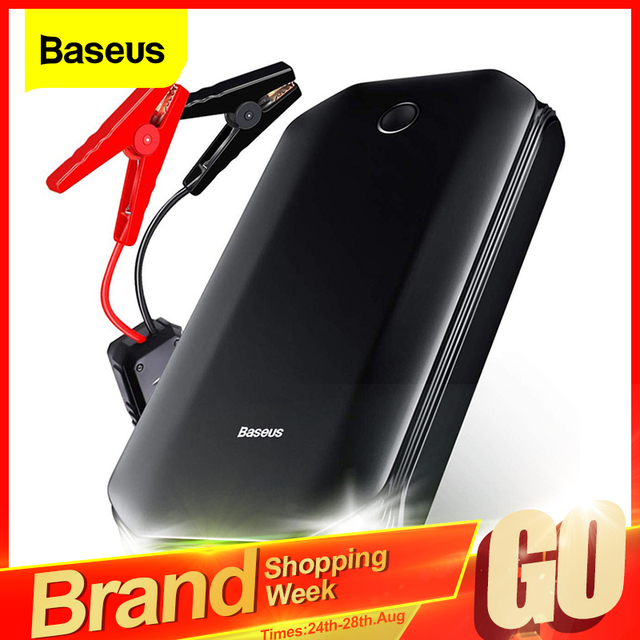 Baseus Car Jump Starter Power Bank 12V Auto Starting Device 800A Car Booster Battery Jumpstarter Emergency Buster Jumper Start 1