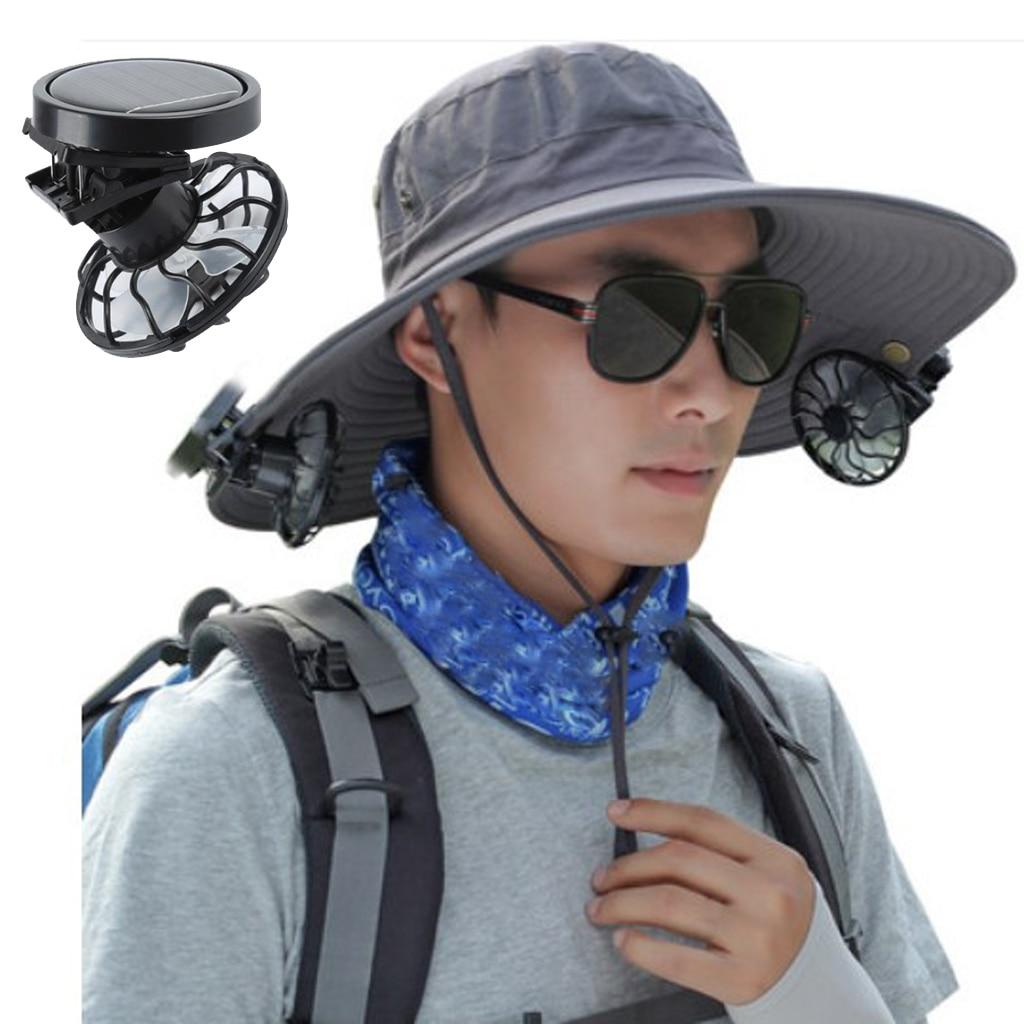 Мини-вентилятор на солнечной батарее с зажимом