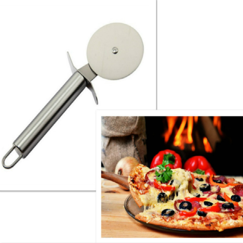 Pizza Cutter Stainless Steel Pizza Knife Cake Bread Pies Round Knife Cutter Pizza Tool Pizza Wheels Cooking Tool