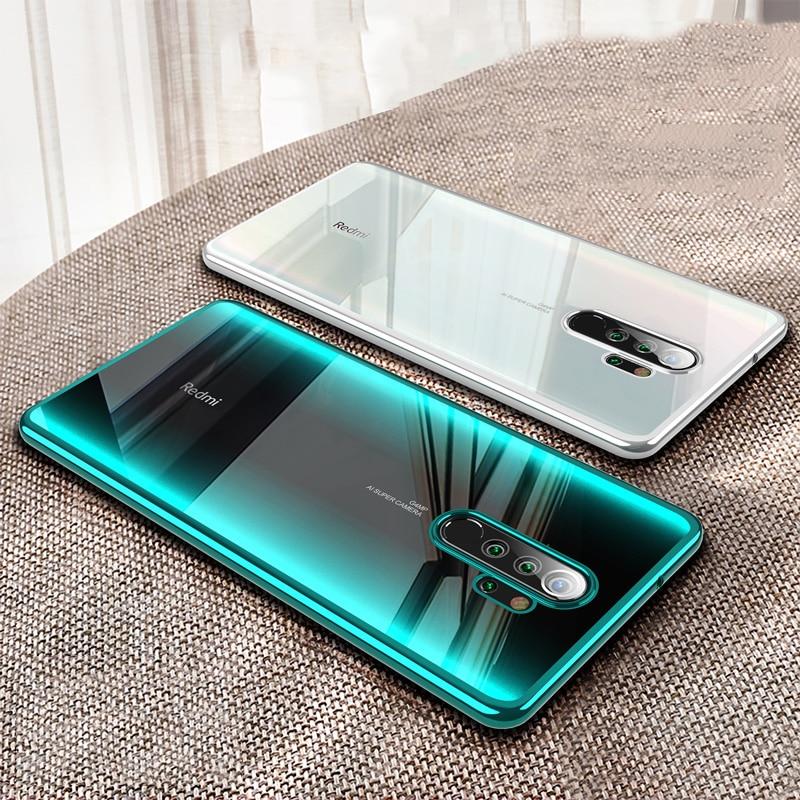 For Xiaomi Redmi Note 8 Pro Case Laser Plating Luxury TPU Soft Clear Cover Xiomi Xiaomi Mi Redmi Note 8 T 8T Note8 8A Phone Case(China)