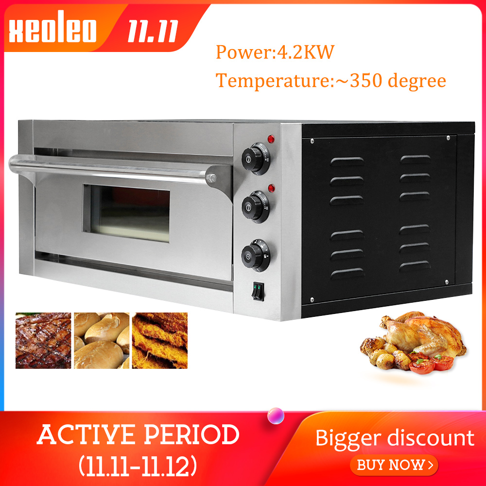 XEOLEO Pizza four machine four à pain électrique four de cuisson Commercial en acier inoxydable fours électriques avec ardoise 220/380V 4200W
