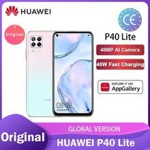 Global Versão Huawei P40 lite 6 + 128GB smartphone 48MP AI Câmeras Kirin 810 Octa Núcleo de 6.4 ''Tela FHD 40W QC телефон смартфоны