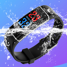 Touch Screen Bracelet Smart Watch Men Women Sports Timer Fitness Activity Heart Rate Tracking Blood Pressure Calorie Monitor men smart watch fashion sport touch screen watches chronograph digital wristwatches blood pressure heart rate monitor calorie